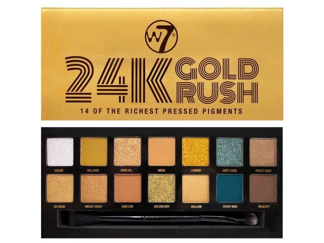24K Gold Rush Eyeshadow Palette W7